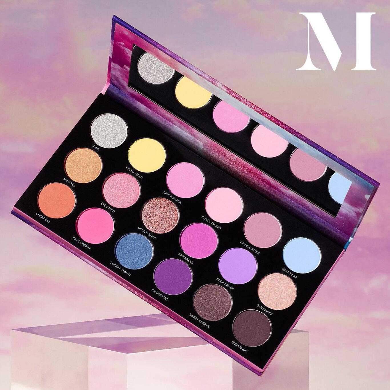 Morphe 18H Sweet On Hue Artistry Palette Open Promo Logo