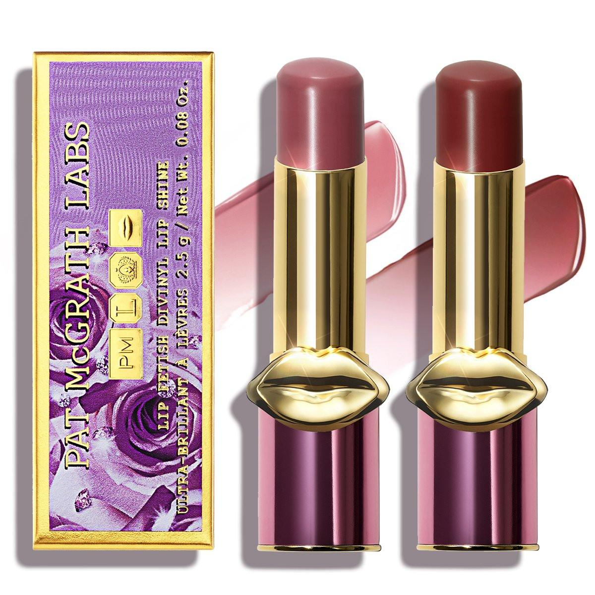 Pat McGrath Divine Blush Collection Lip Fetish Divinyl Lip Shine in Divine Rose 2 & Flesh 7
