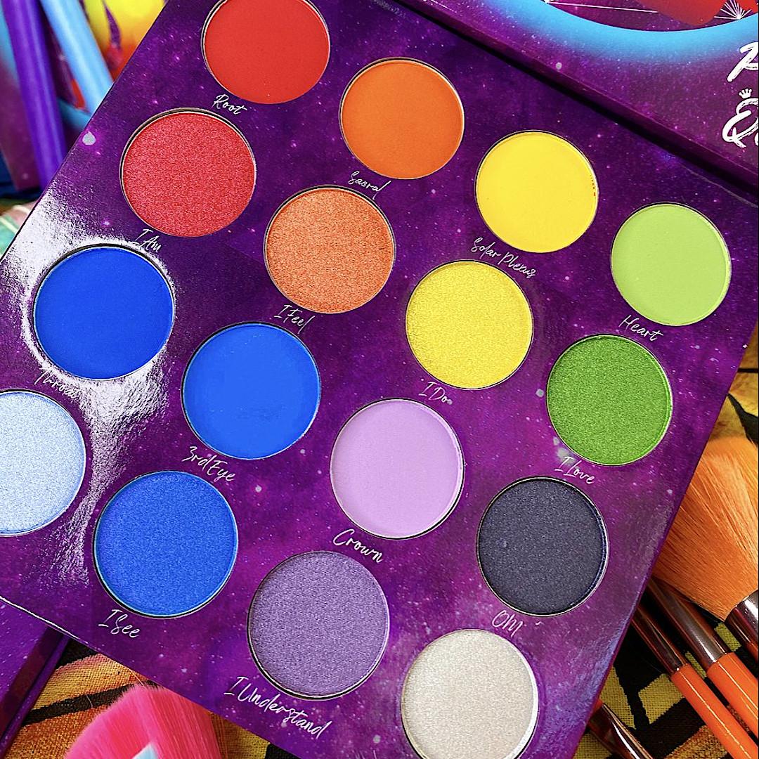 Peachy Queen Cosmetics Align Chakras Palette Close Up