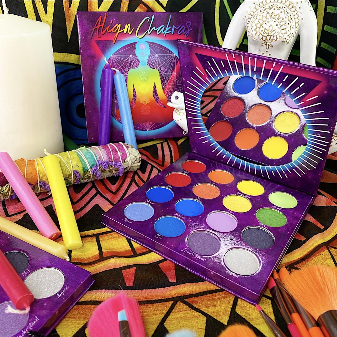 Peachy Queen Cosmetics Align Chakras Palette Promo