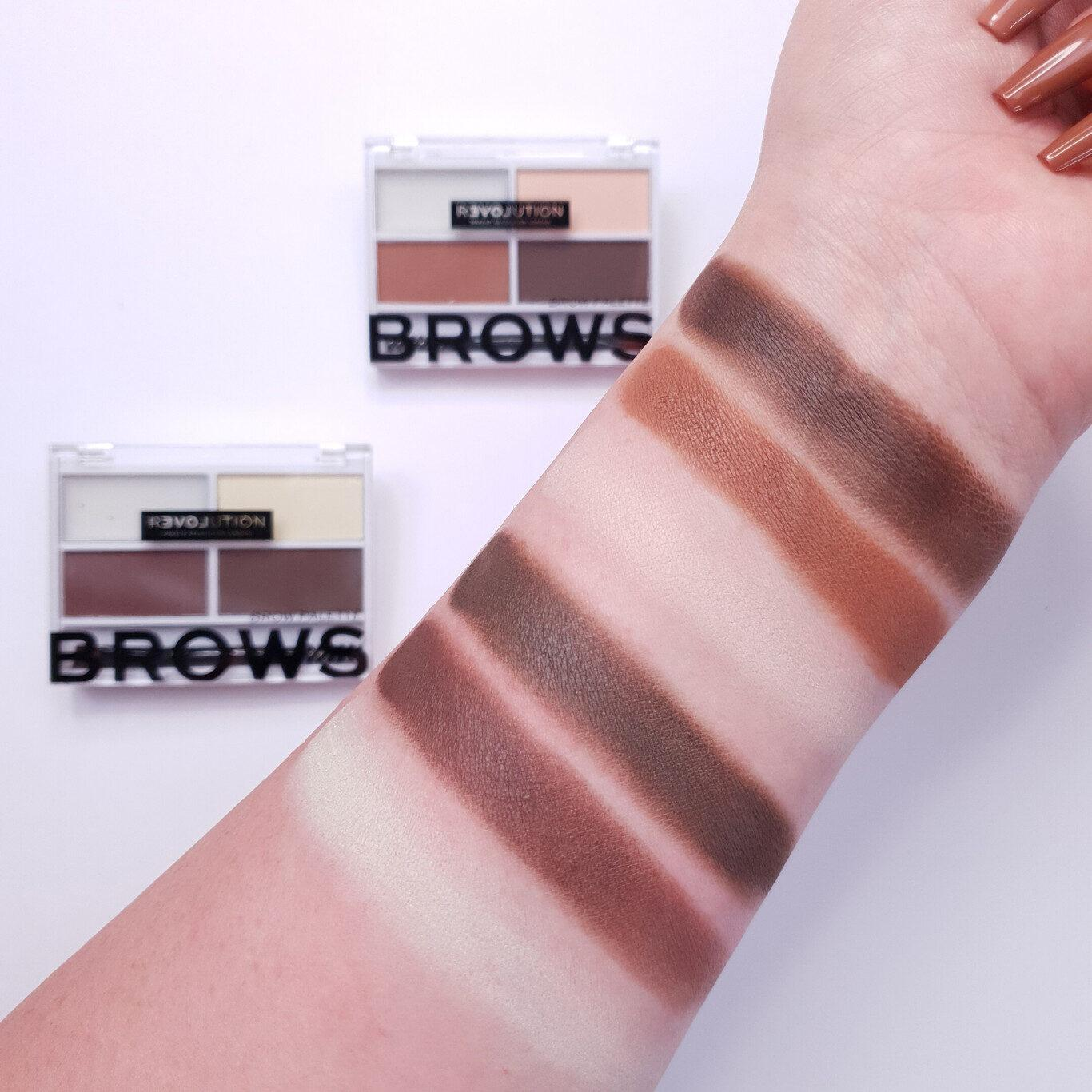 ReLove by Revolution Colour Cult Brow Palette Arm Swatches