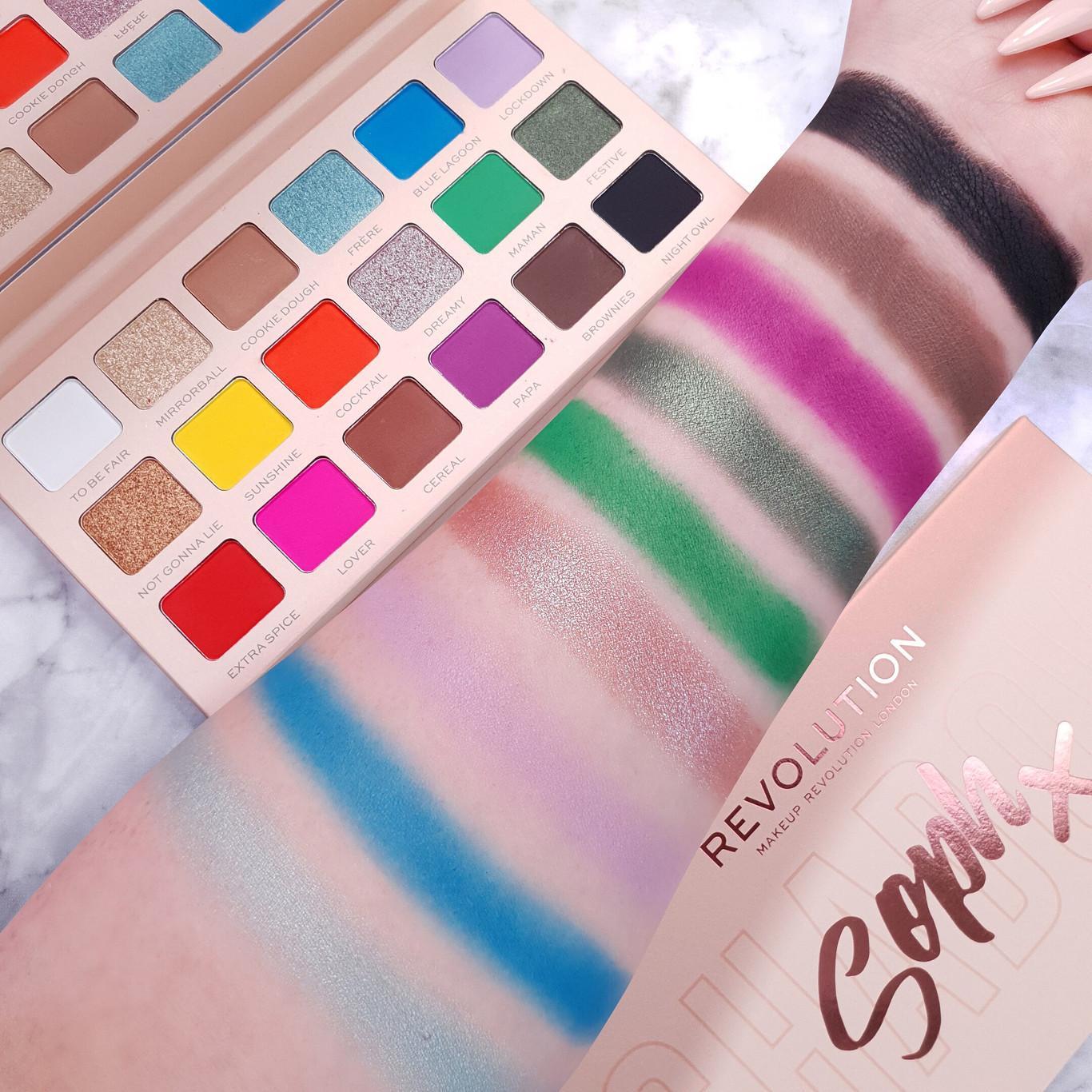 Revolution x Soph Collection Round 3 Super Spice Eyeshadow Palette Arm Swatch Light