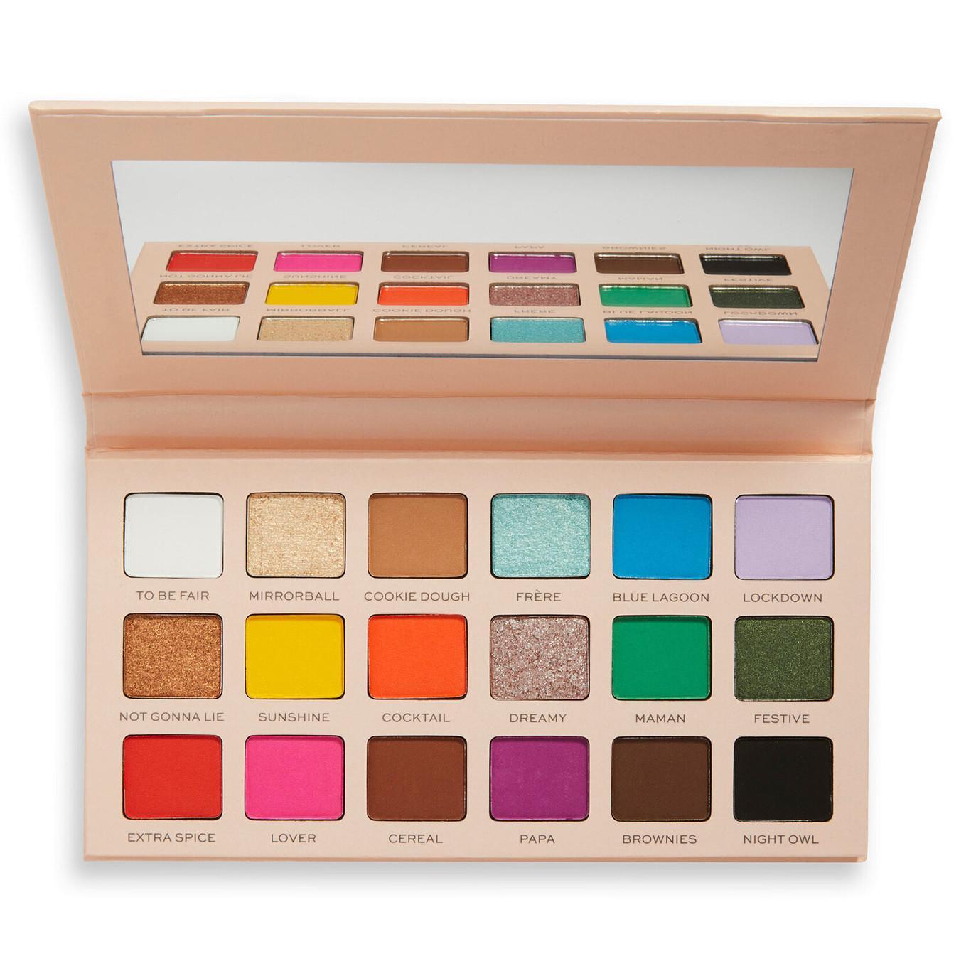 Revolution x Soph Collection Round 3 Super Spice Eyeshadow Palette Open