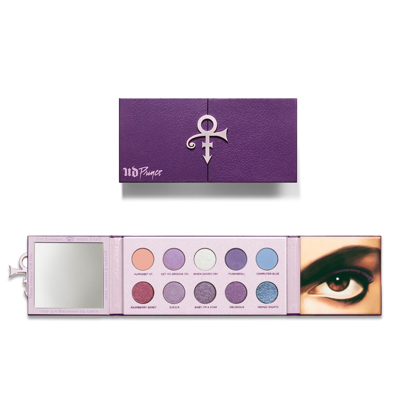 Urban Decay Prince Collection Prince Let'S Go Crazy Eyeshadow Palette Open With Cover