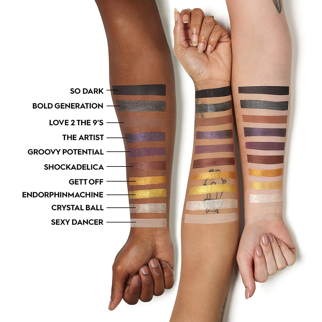 Urban Decay Prince Collection Prince U Got The Look Eyeshadow Palette Arm Swatches