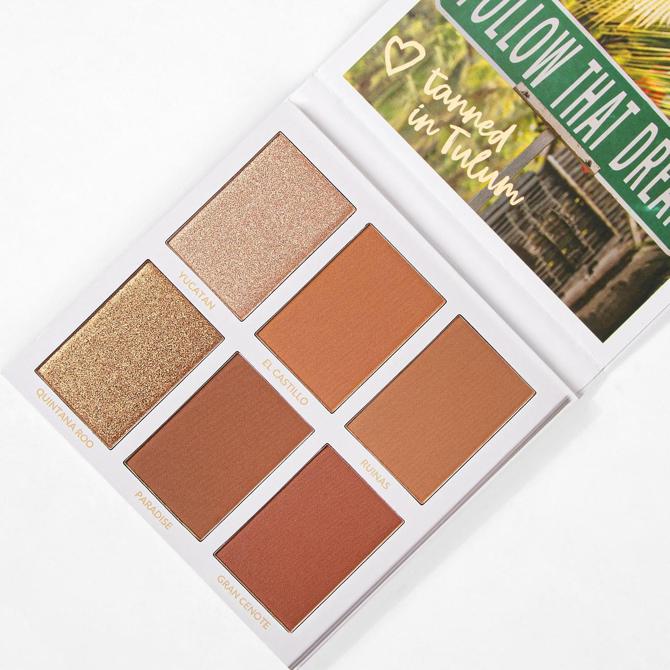 BH Cosmetics Travel Series Tanned In Tulum Open Angled