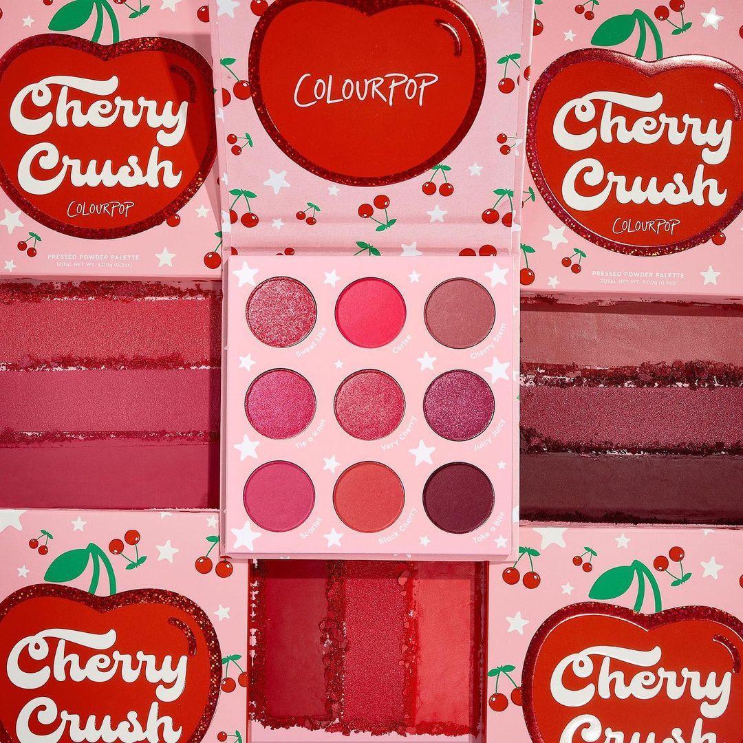 ColourPop Cherry Crush Collection 9 Pan Cherry Crush palette Promo