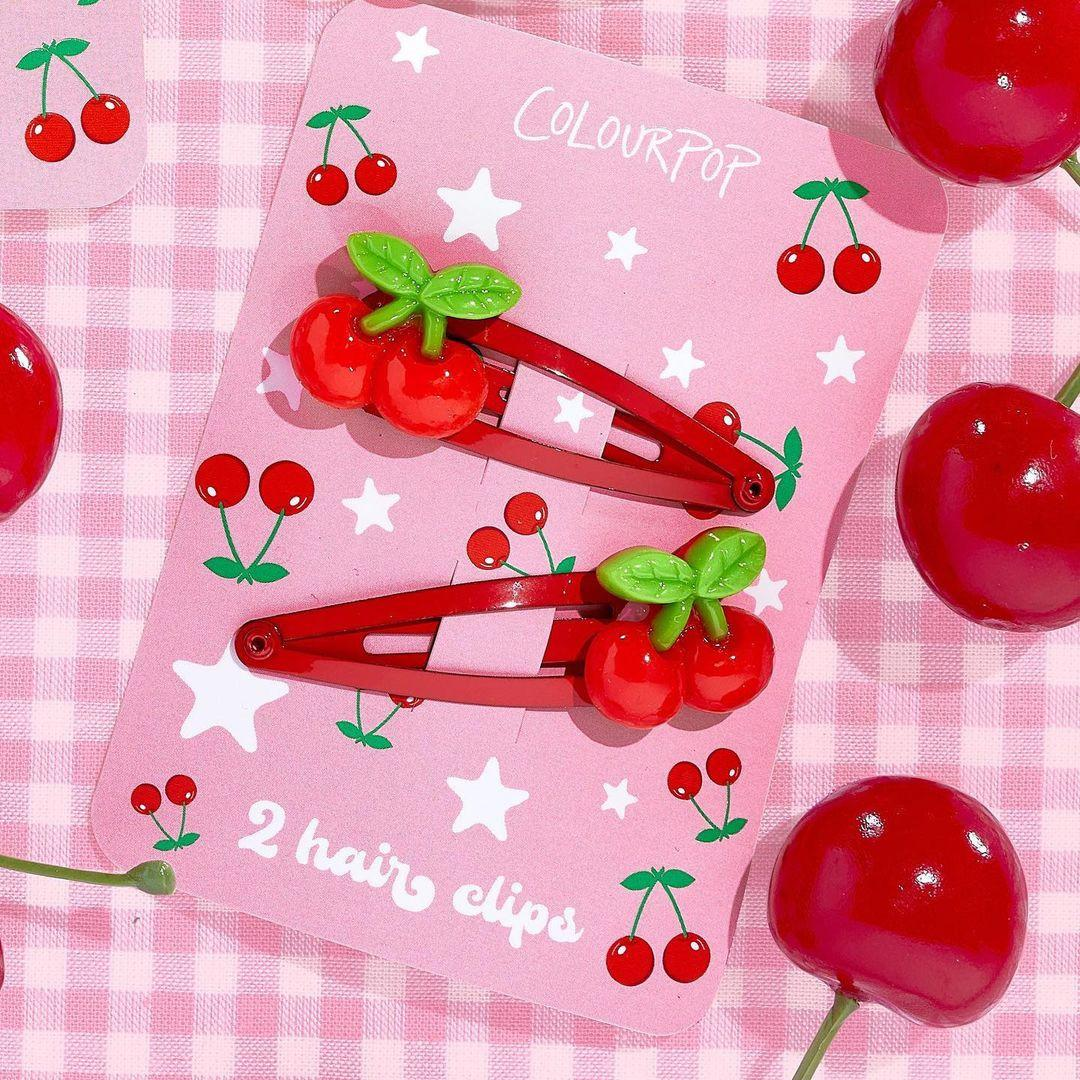 ColourPop Cherry Crush Collection Cherry Hair Clips Promo