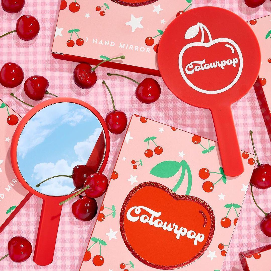 ColourPop Cherry Crush Collection Cherry Hand Mirror Promo