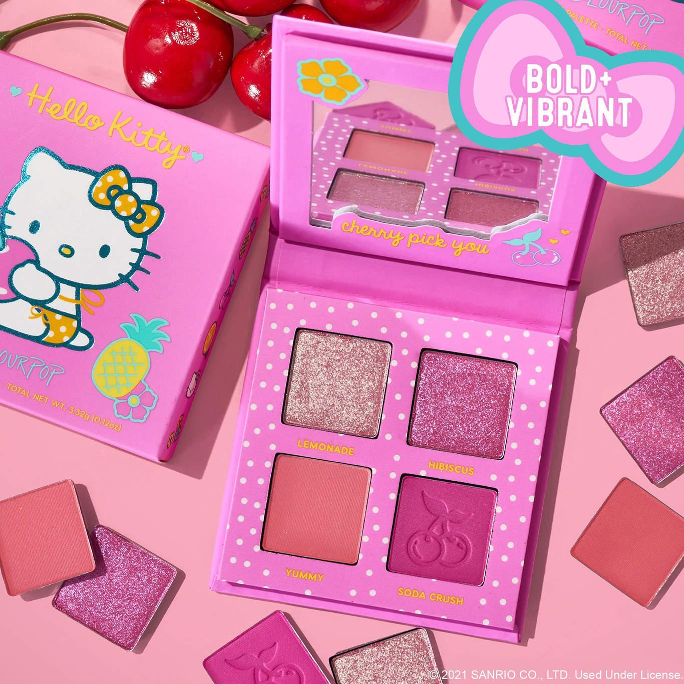 ColourPop x Hello Kitty Tropical Escape Collection Eyeshadow Palette In Cherry Sweet