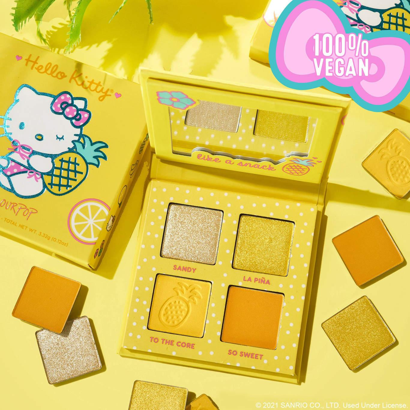 ColourPop x Hello Kitty Tropical Escape Collection Eyeshadow Palette In Pineapple Cake