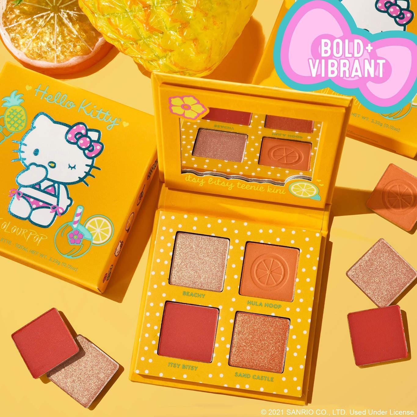 ColourPop x Hello Kitty Tropical Escape Collection Eyeshadow Palette In Teenie Kini