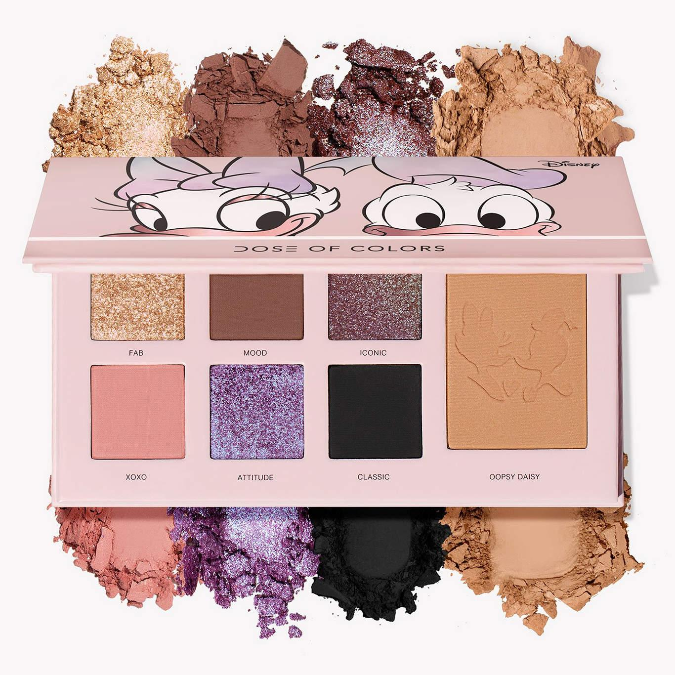 Dose Of Colors Donald Duck & Daisy Duck Collection Donald & Daisy Eyeshadow + Bronzer Palette With Crashes