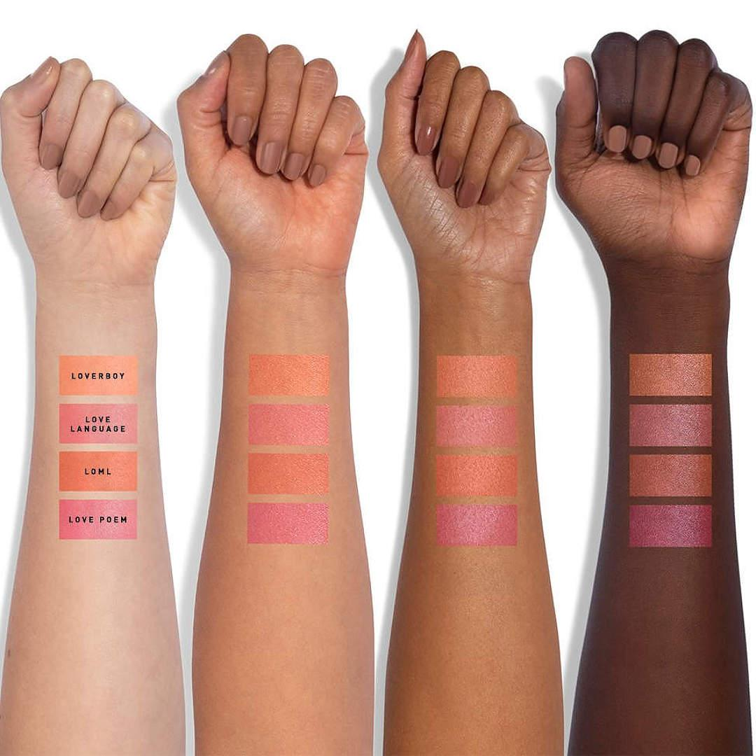 Jaclyn Cosmetics Bougie Rouge Collection Mood Light Luminous Rouge Arm Swatches