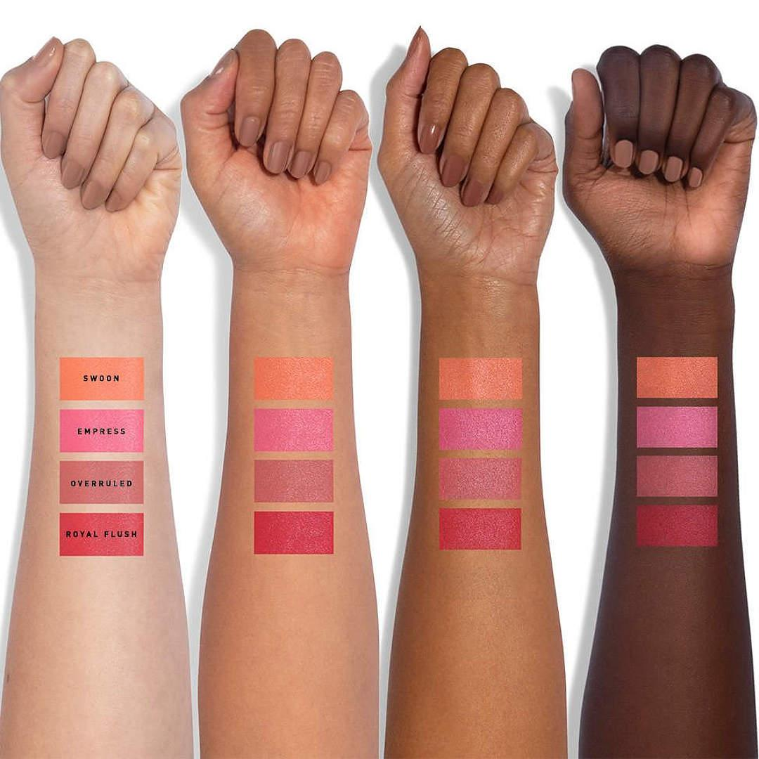 Jaclyn Cosmetics Bougie Rouge Collection Rouge Romance Cream to Powder Blush Stick Arm Swatches