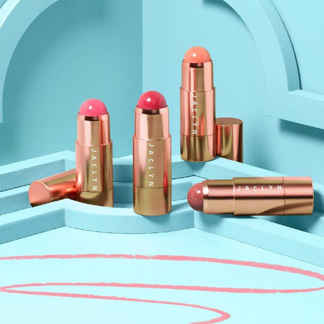 Jaclyn Cosmetics Bougie Rouge Collection Rouge Romance Cream to Powder Blush Stick Promo