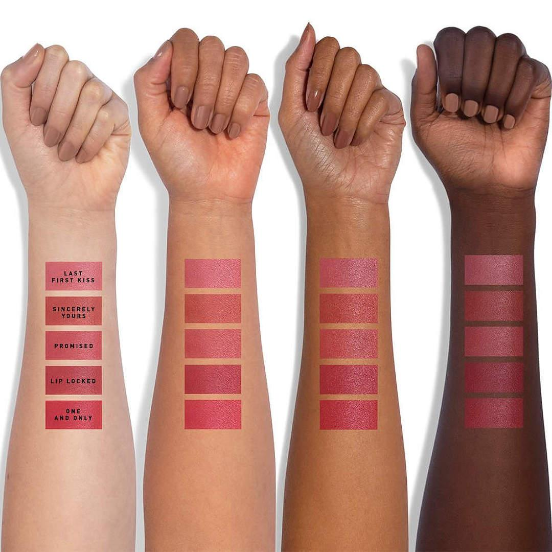Jaclyn Cosmetics Bougie Rouge Collection Rouge Romance Lip Cushion Arm Swatches