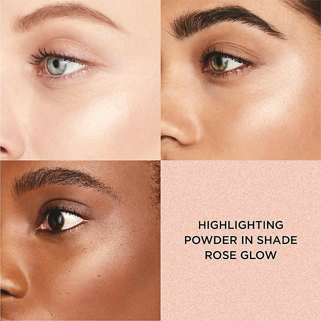 Laura Mercier RoseGlow Collection Highlighting Powder Face Swatches