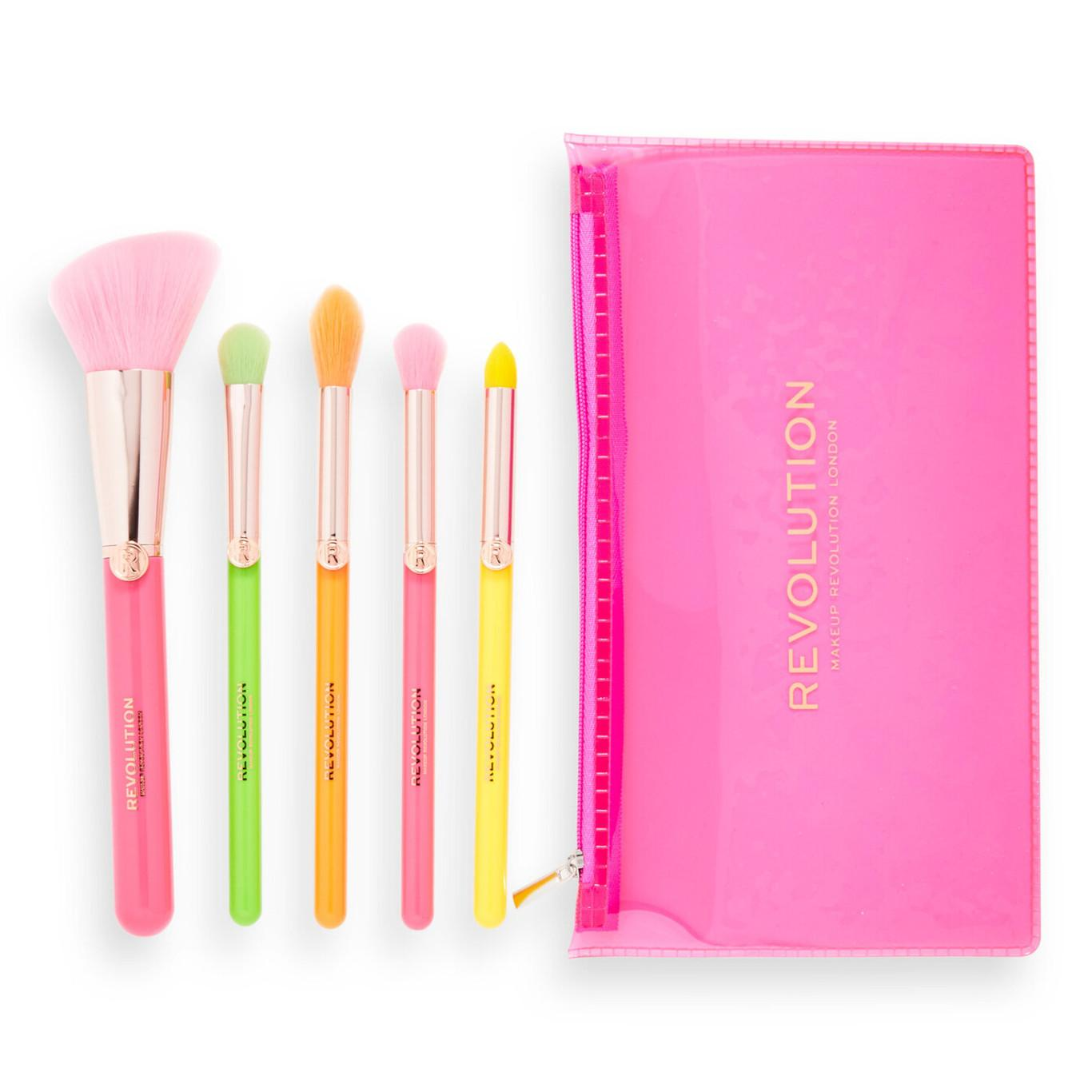 Makeup Revolution Neon Heat Brush Set Open