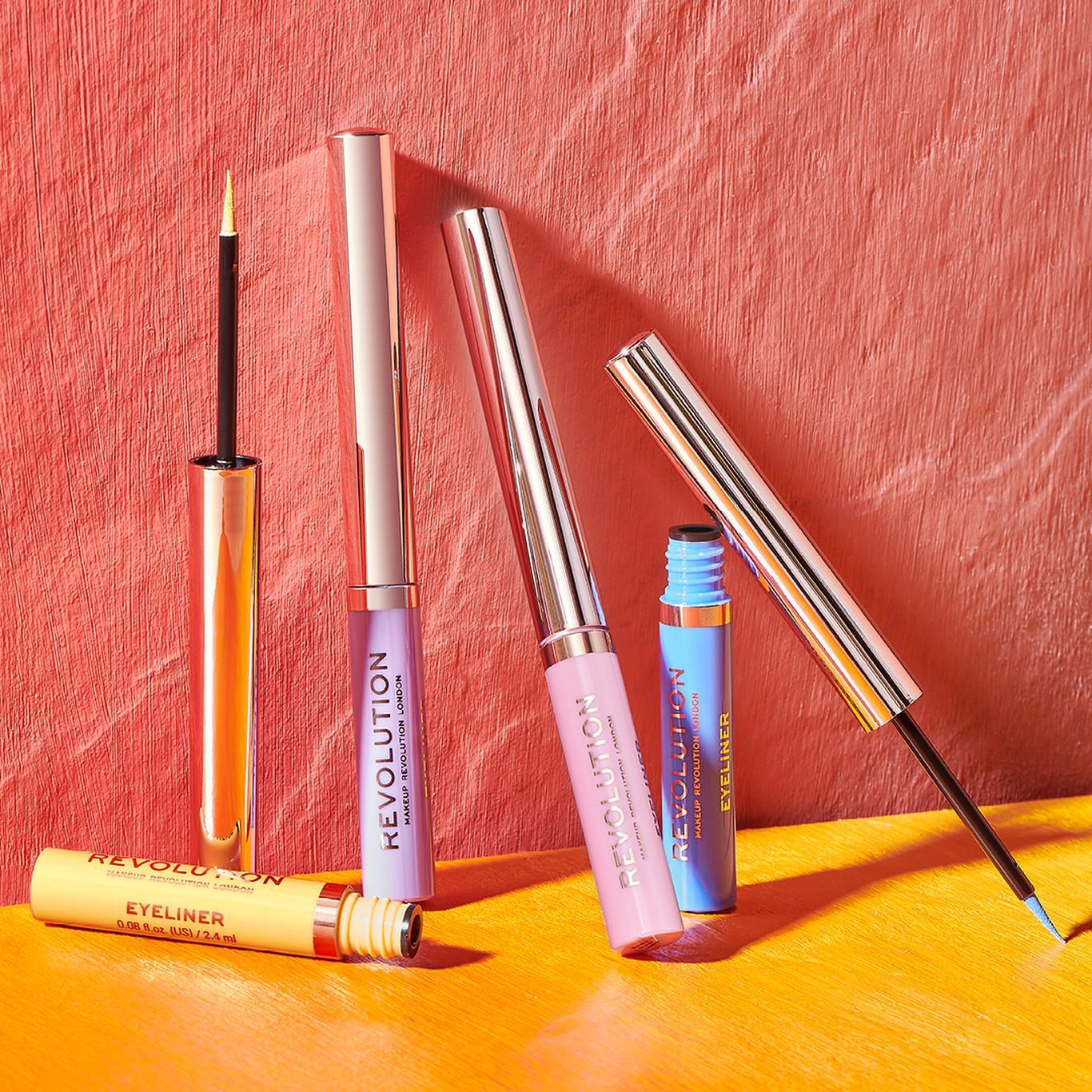 Makeup Revolution Neon Heat Coloured Liquid Eyeliners Promo