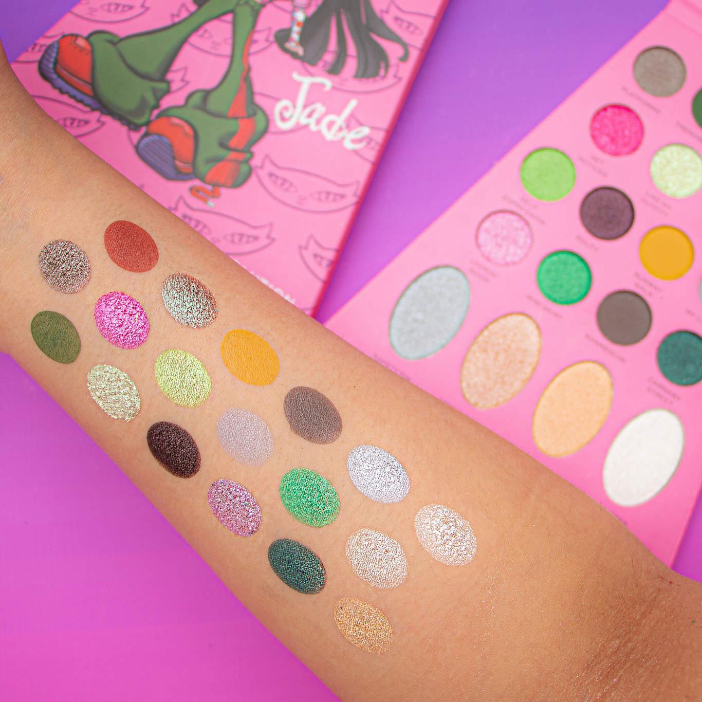 Makeup Revolution x Bratz Doll Eyeshadow Palette Jade Arm Swatches