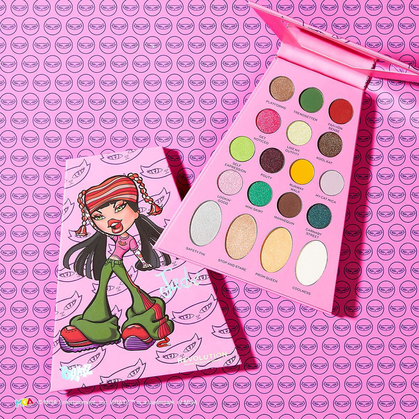 Makeup Revolution x Bratz Doll Eyeshadow Palette Jade Promo