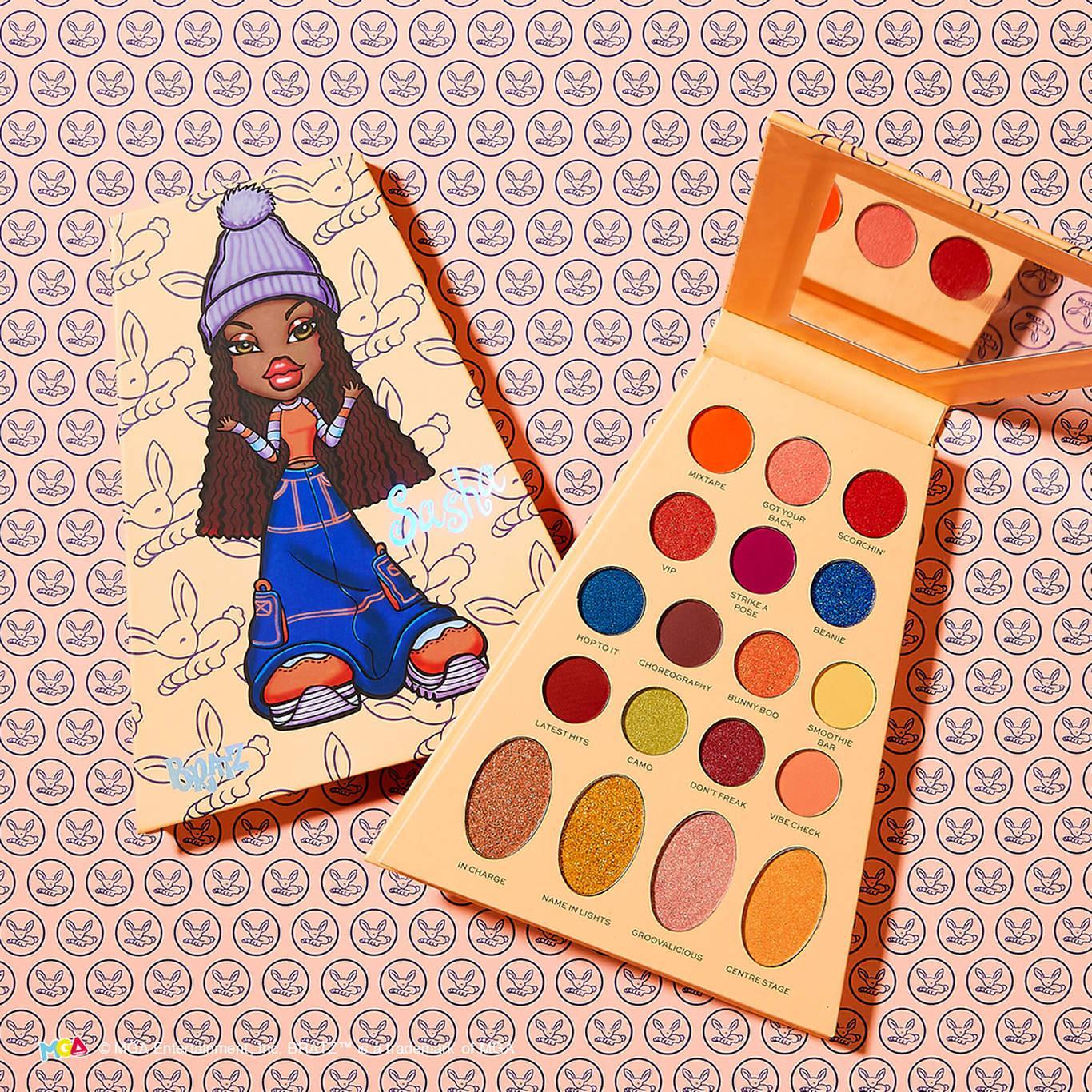 Makeup Revolution x Bratz Doll Eyeshadow Palette Sasha Promo