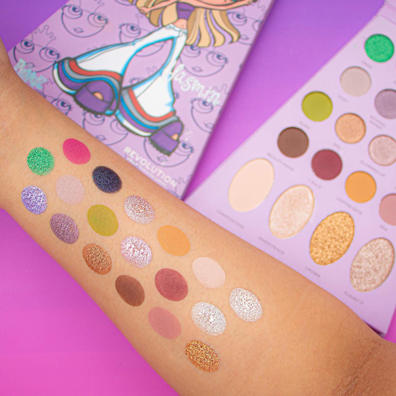 Makeup Revolution x Bratz Doll Eyeshadow Palette Yasmin Arm Swatches