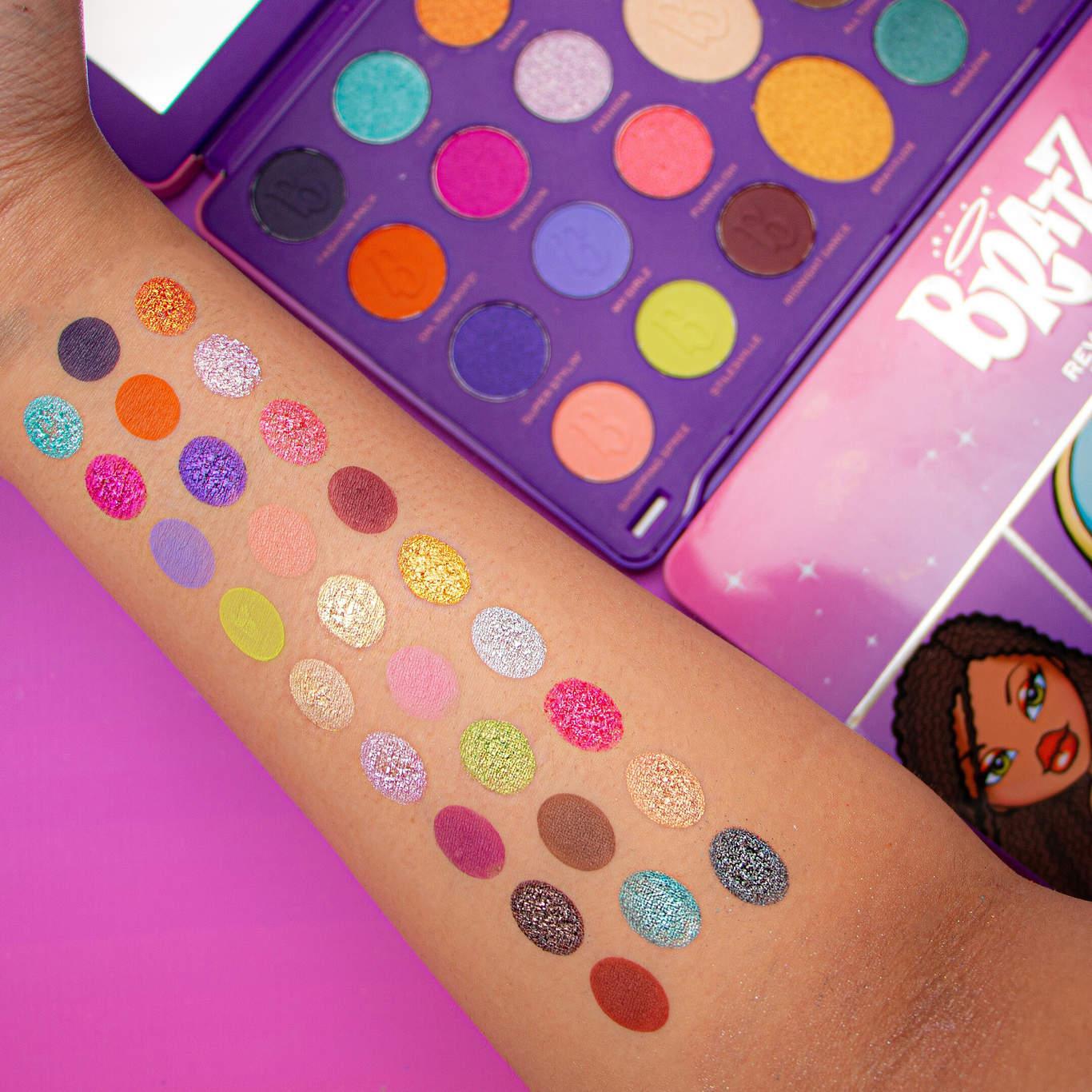 Makeup Revolution x Bratz Eyeshadow Palette Arm Swatches