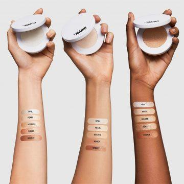 Makeup by Mario Soft Sculpt™ collection SoftGlow Highlighter Arm Swatches