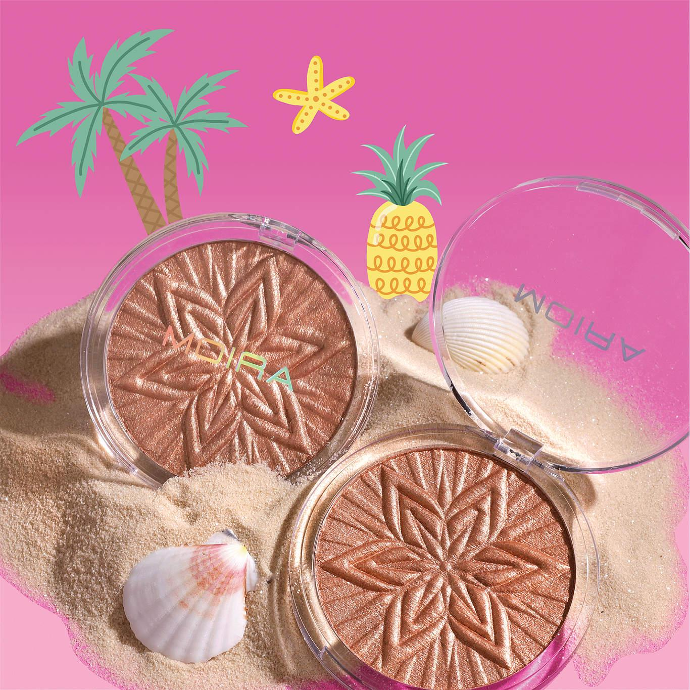 Moira Cosmetics Sun Glow Face & Body Highligther In 004 Fairy Gold