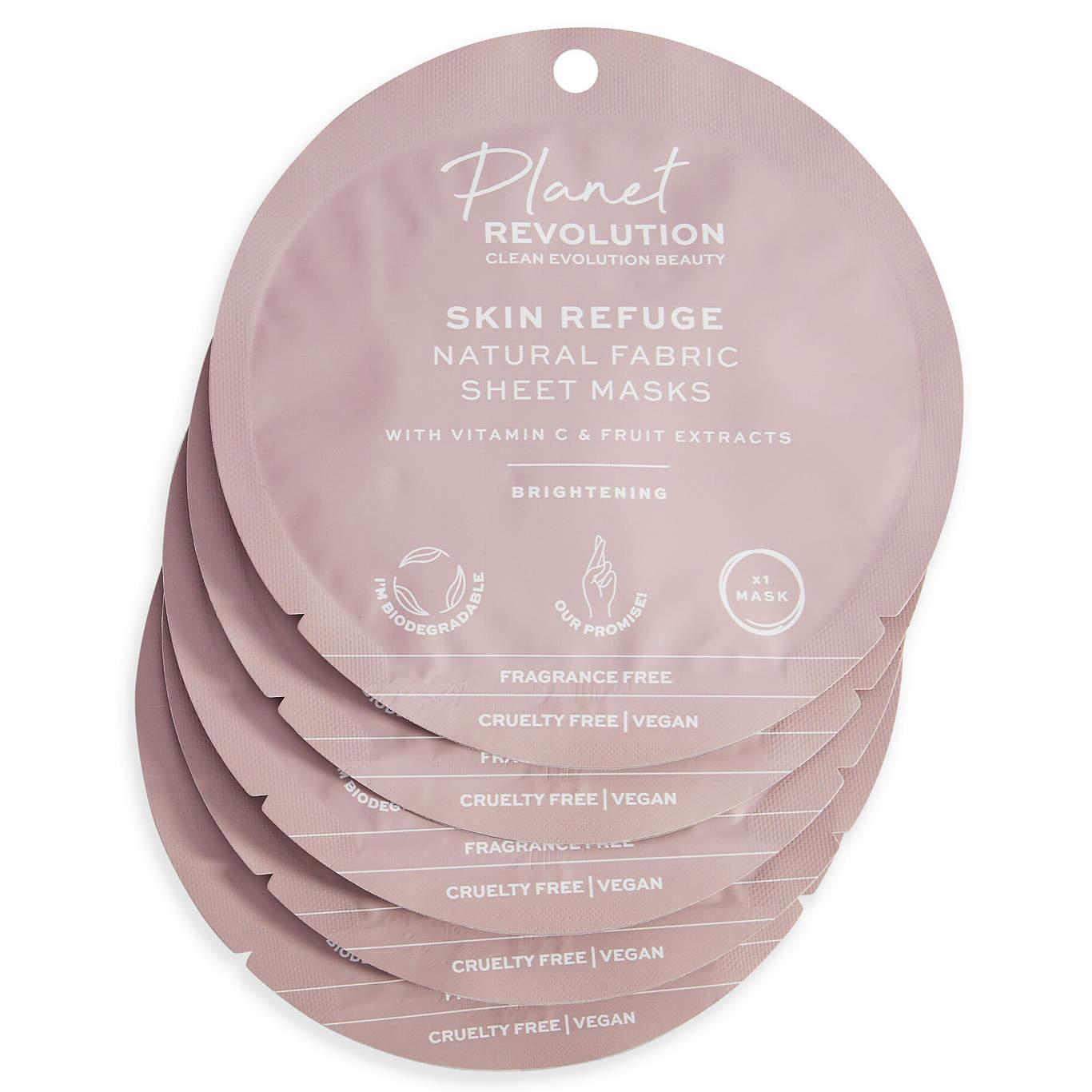 Planet Revolution Skin Refuge Brightening Fabric Sheet Masks Set Front