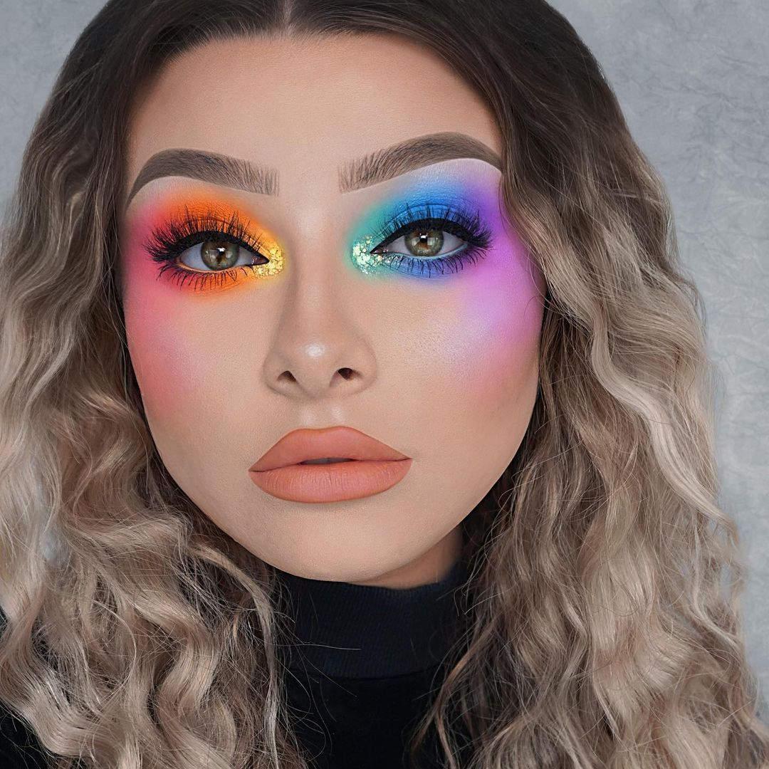 Tutorial de maquillaje ahumado en arcoíris Jessica Rose 1