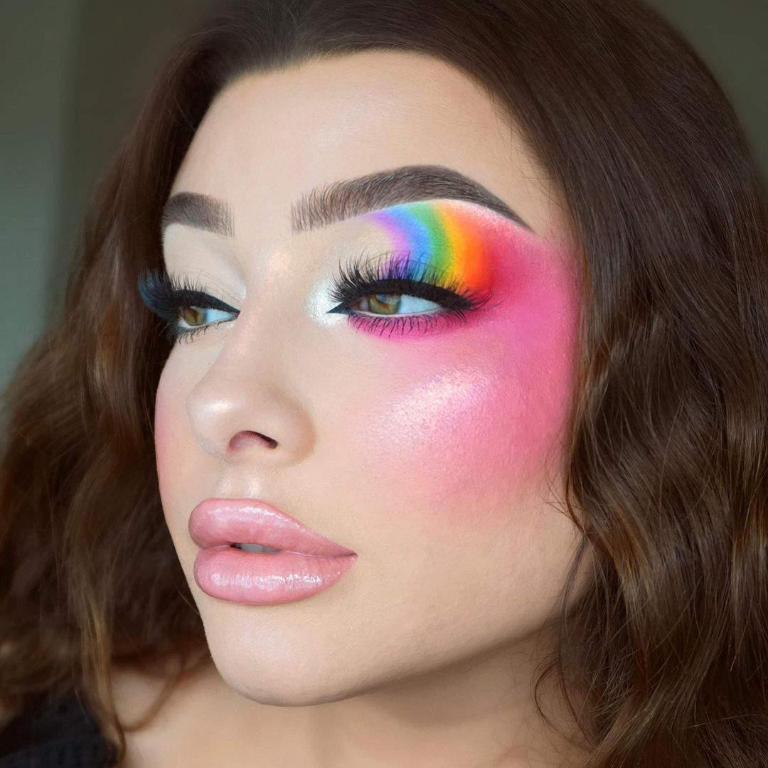Tutorial de maquillaje ahumado en arcoíris Jessica Rose 2