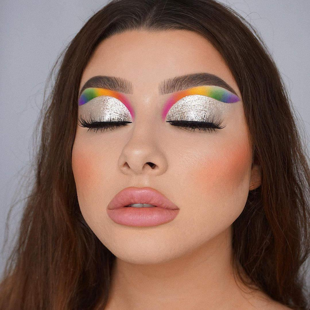 Tutorial de maquillaje ahumado en arcoíris Jessica Rose 3