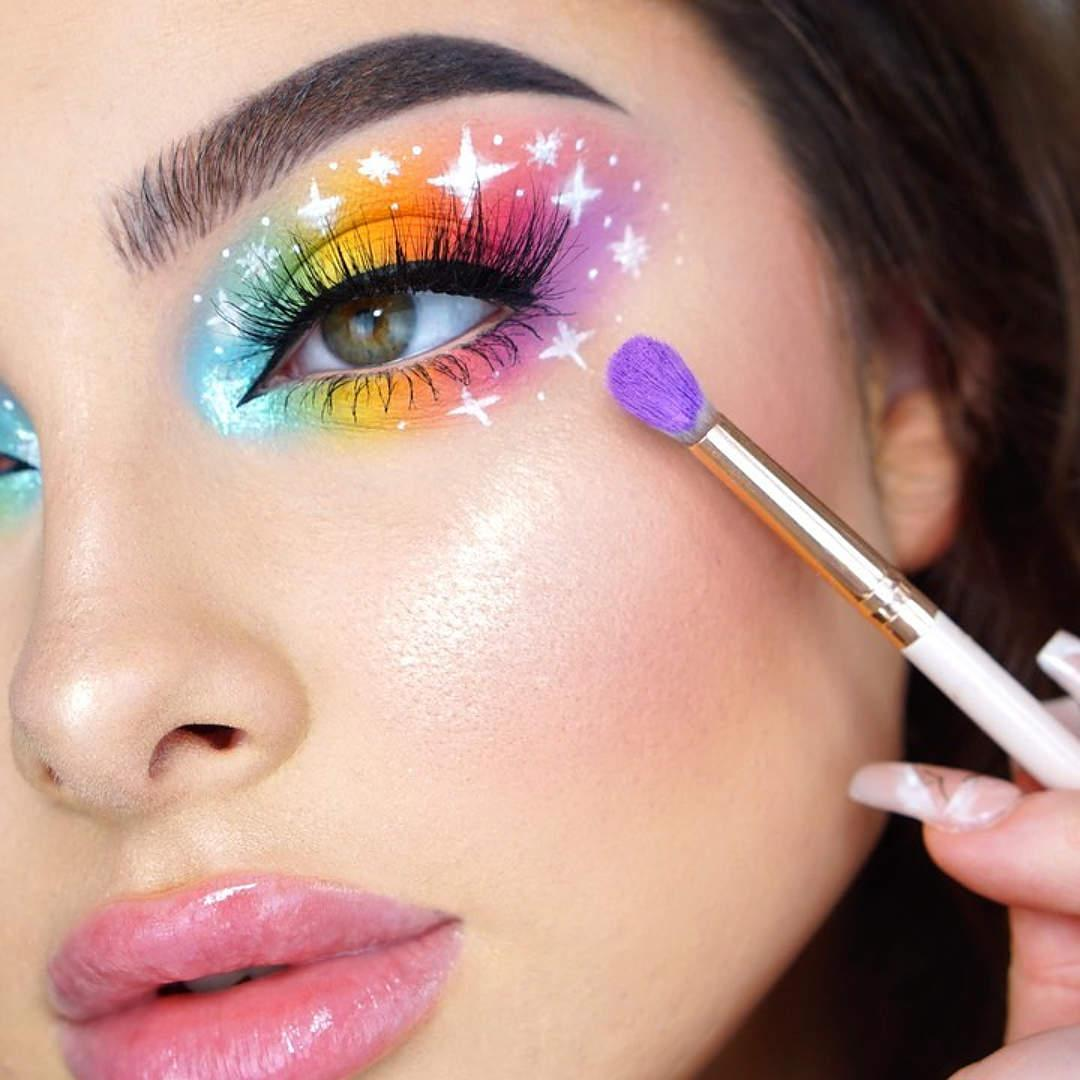 Tutorial de maquillaje ahumado en arcoíris Jessica Rose 4