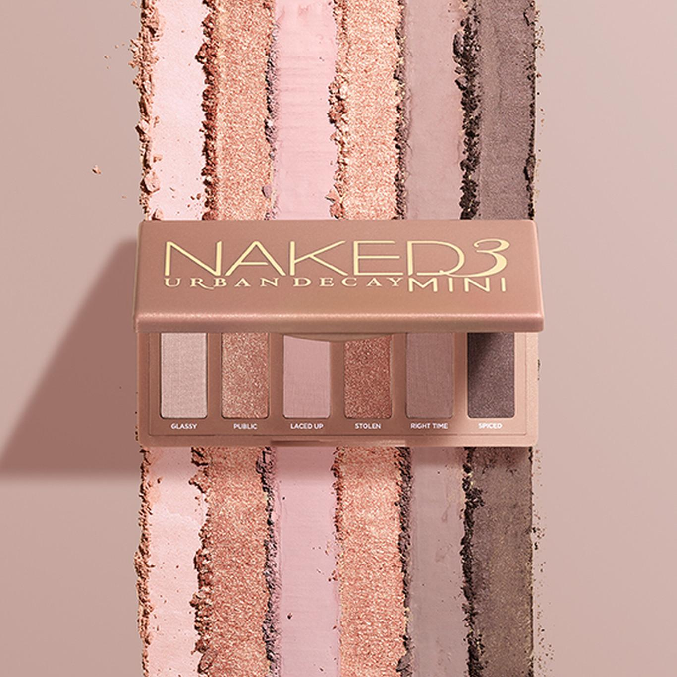 Urban Decay Naked3 Mini Eyeshadow Palette Open With Crash Swatches Promo