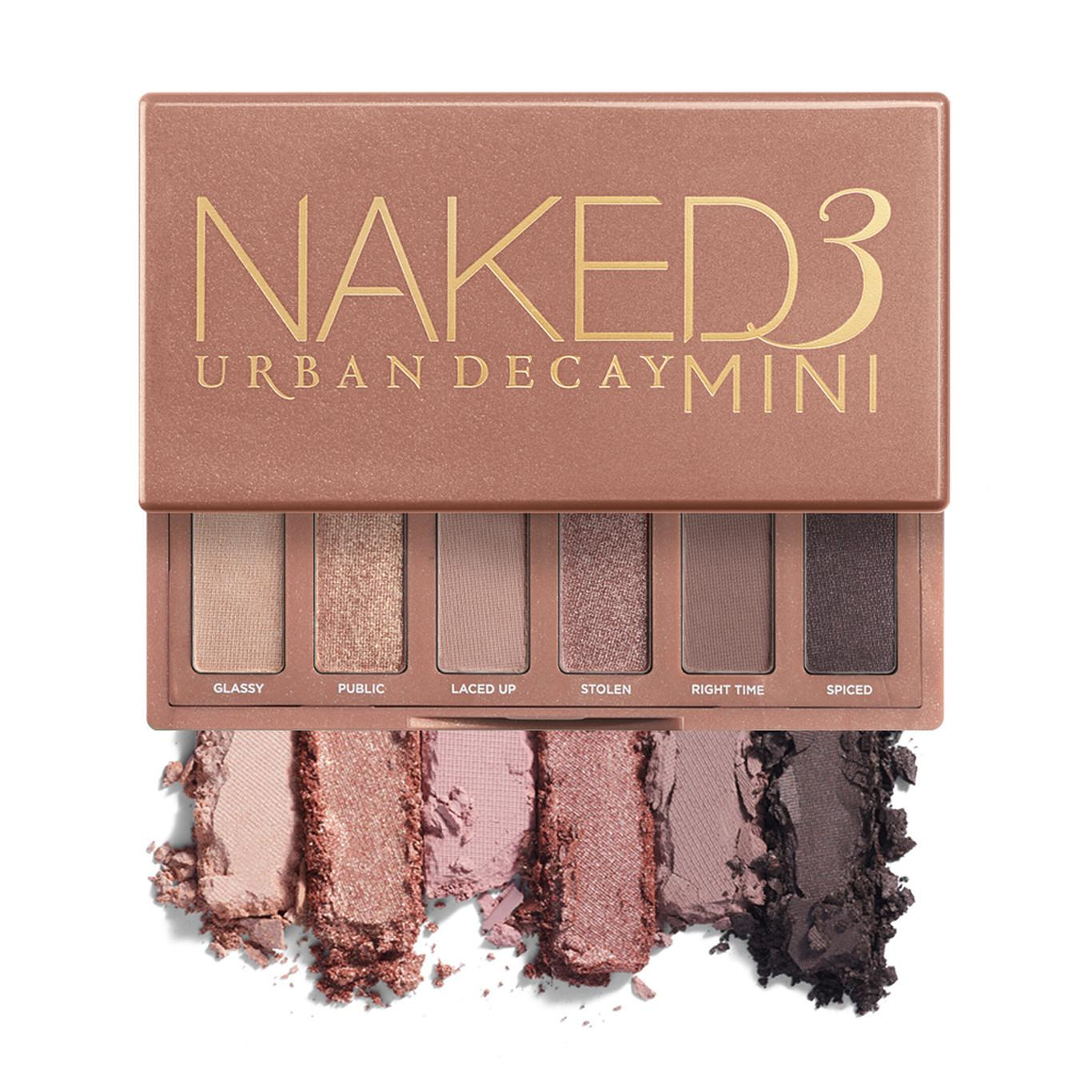 Urban Decay Naked3 Mini Eyeshadow Palette Open With Crash Swatches