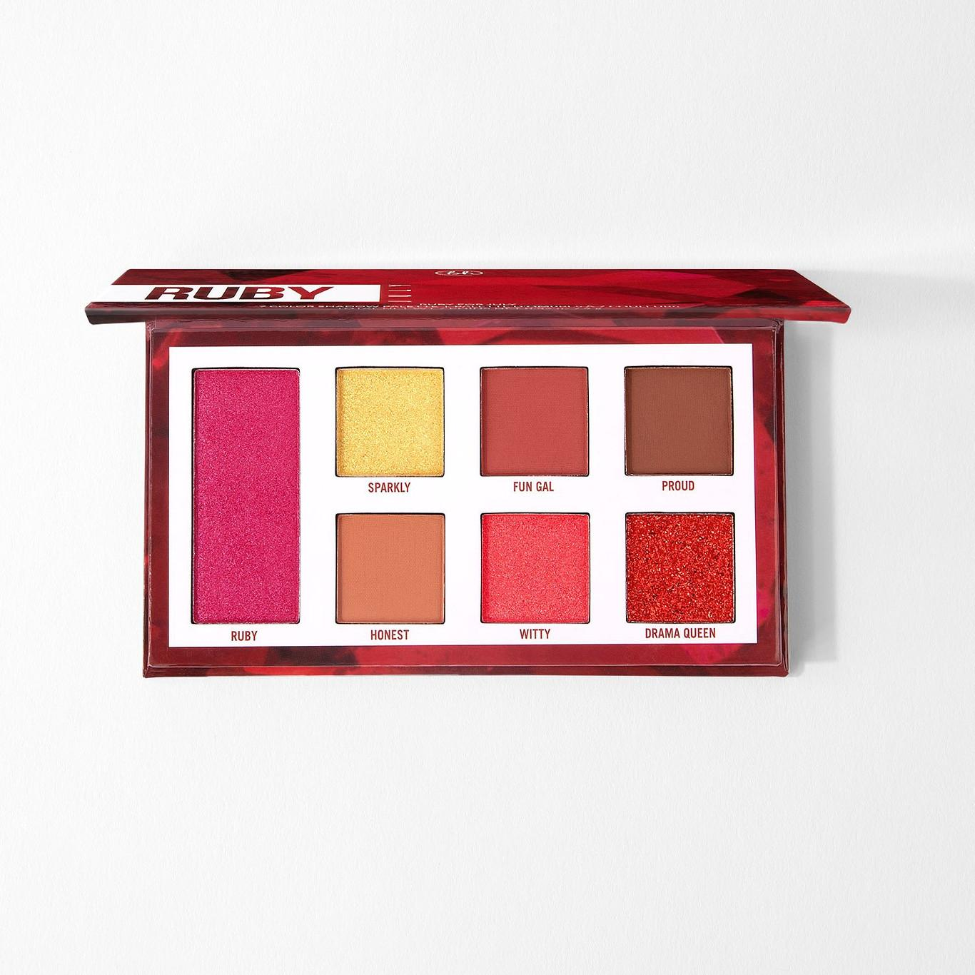 BH Cosmetics Ruby for July Eyeshadow Palette Open