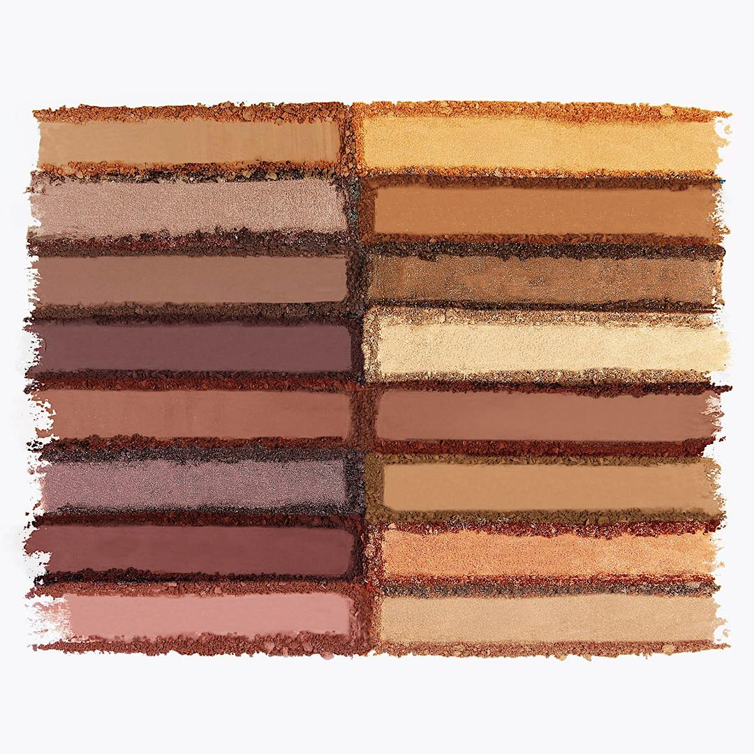 BH Cosmetics Travel Series Amore In Amalfi 16 Color Shadow Palette Crash Swatches
