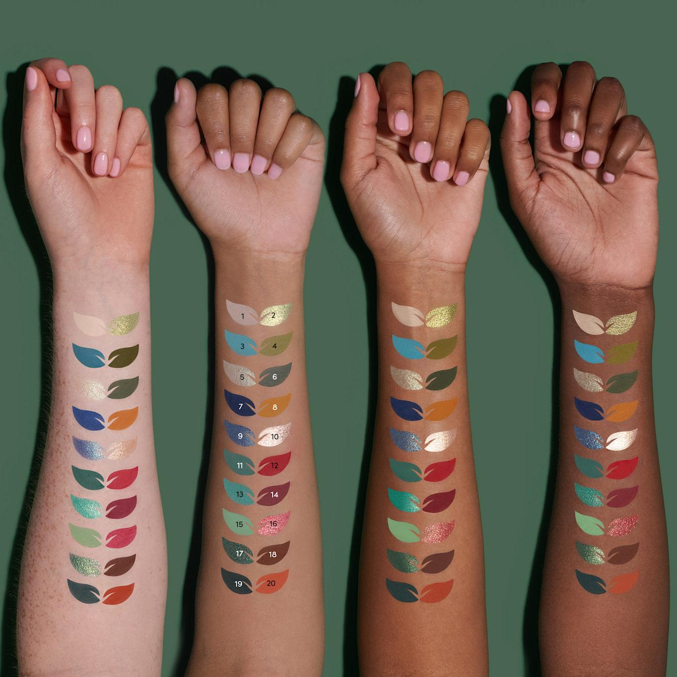 Beauty Bay Wilderness Palette Arm Swatches