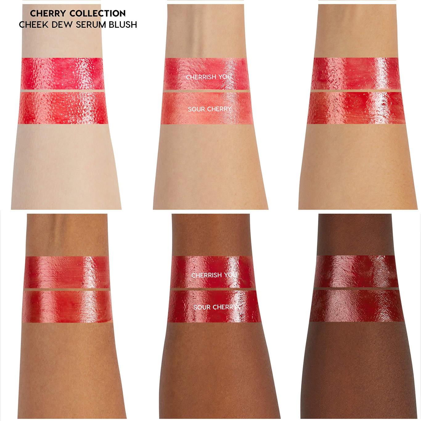 ColourPop Cherry Crush Collection ColourPop Cherry Crush Collection Cheek Dew Serums Arm Swatch