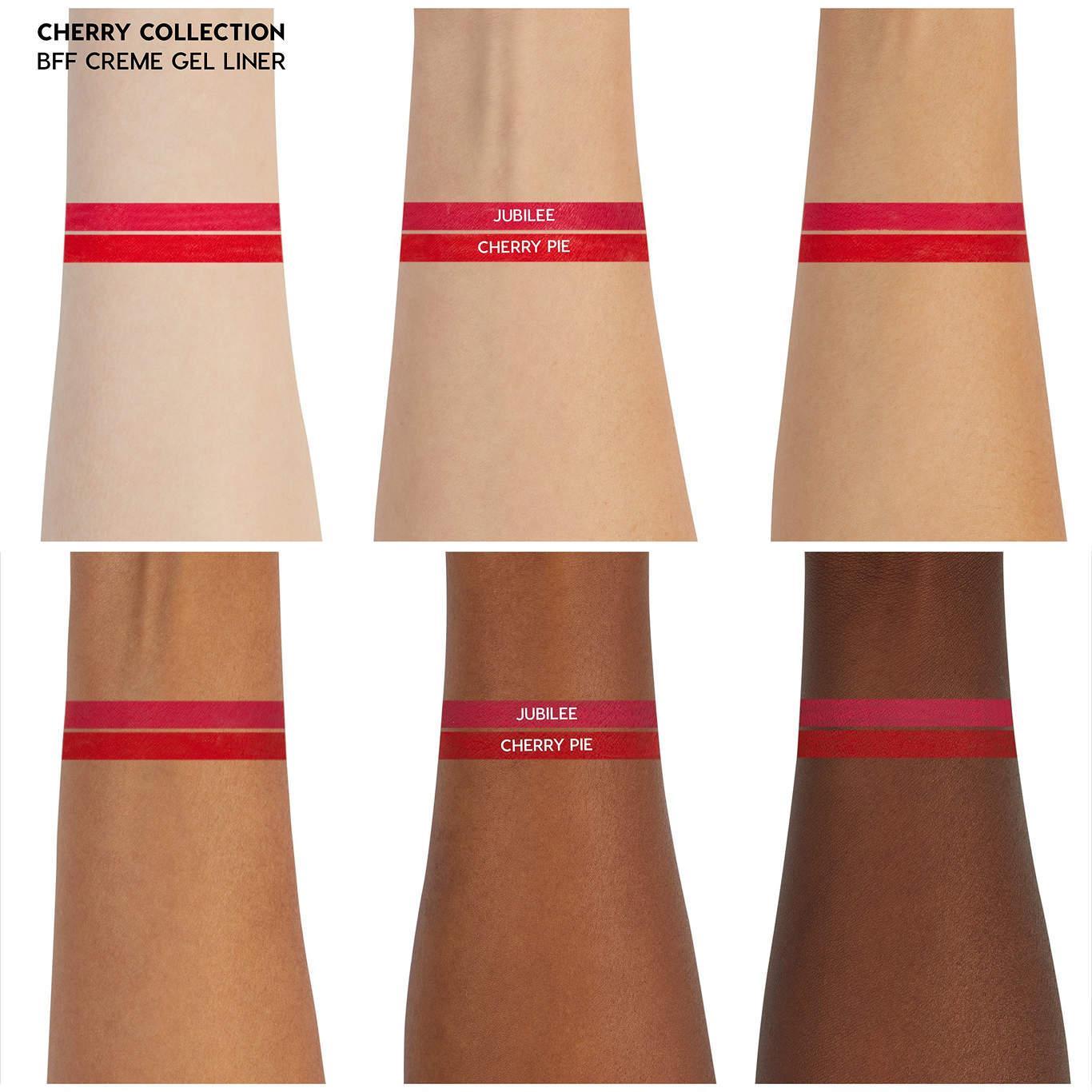 ColourPop Cherry Crush Collection ColourPop Cherry Crush Collection Creme Gel Liners Arm Swatch