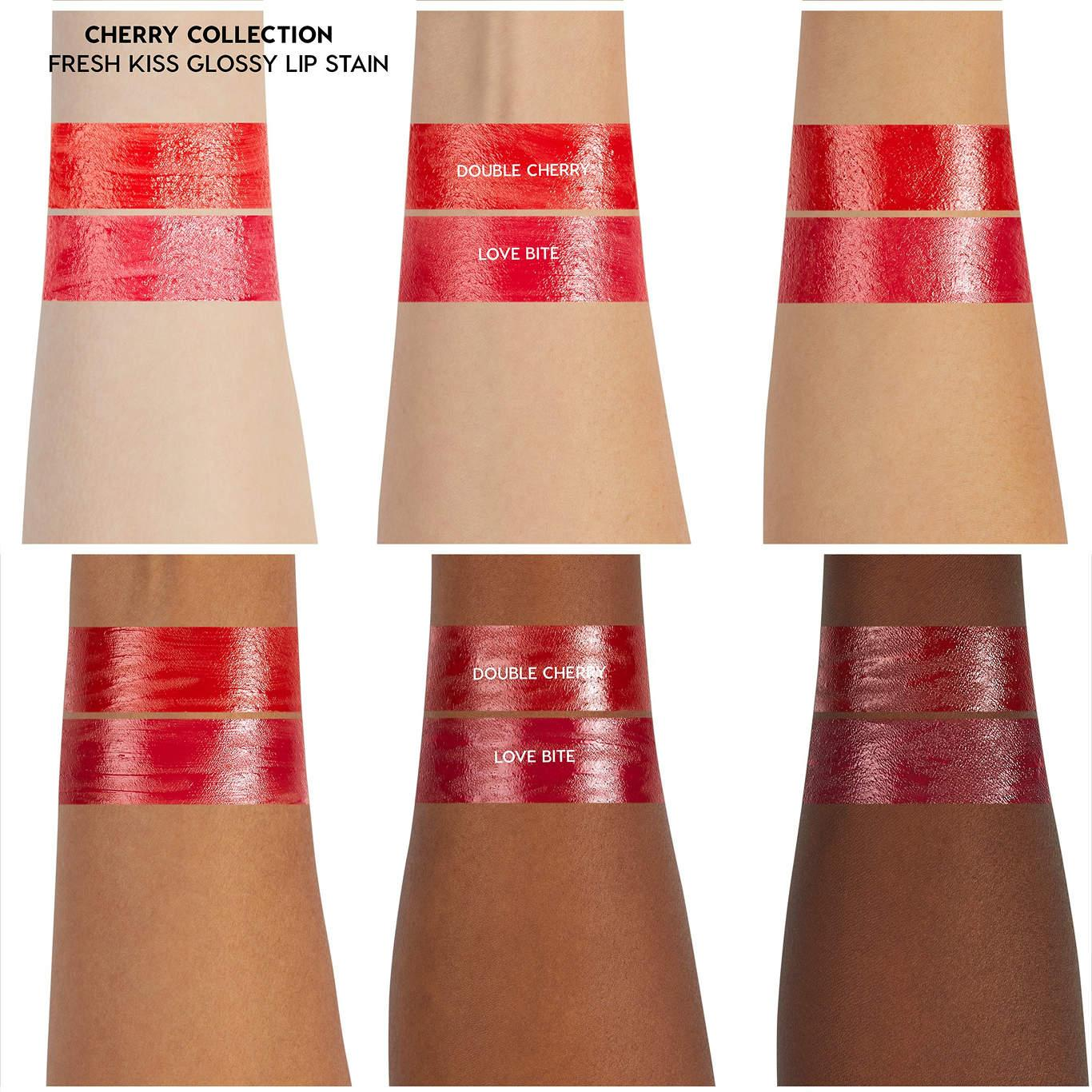 ColourPop Cherry Crush Collection Glossy Lip Stains Arm Swatch