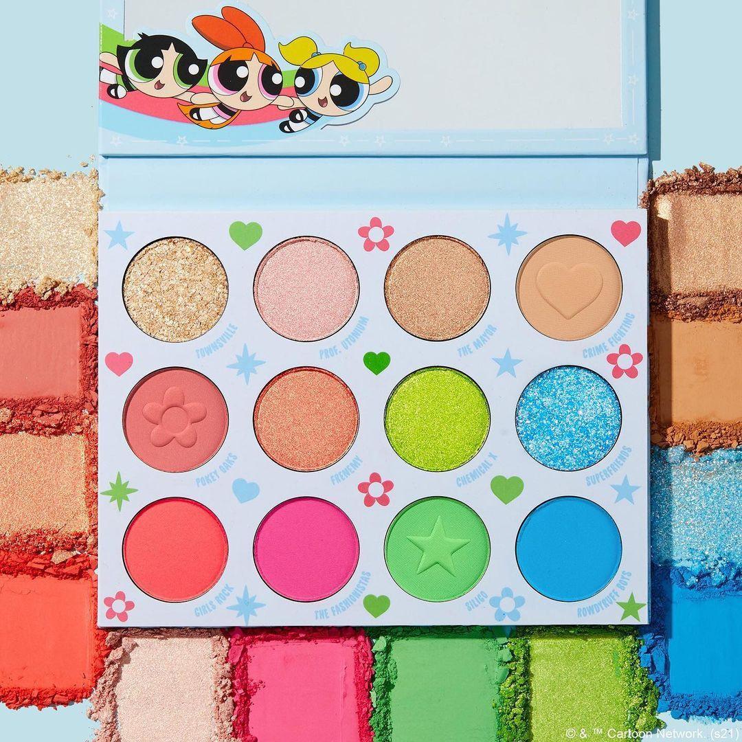 ColourPop Cosmetics The Powerpuff Girls x ColourPop Collection 12 Pan Palette Promo