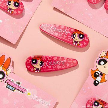 ColourPop Cosmetics The Powerpuff Girls x ColourPop Collection Blossom Hair Clips Promo