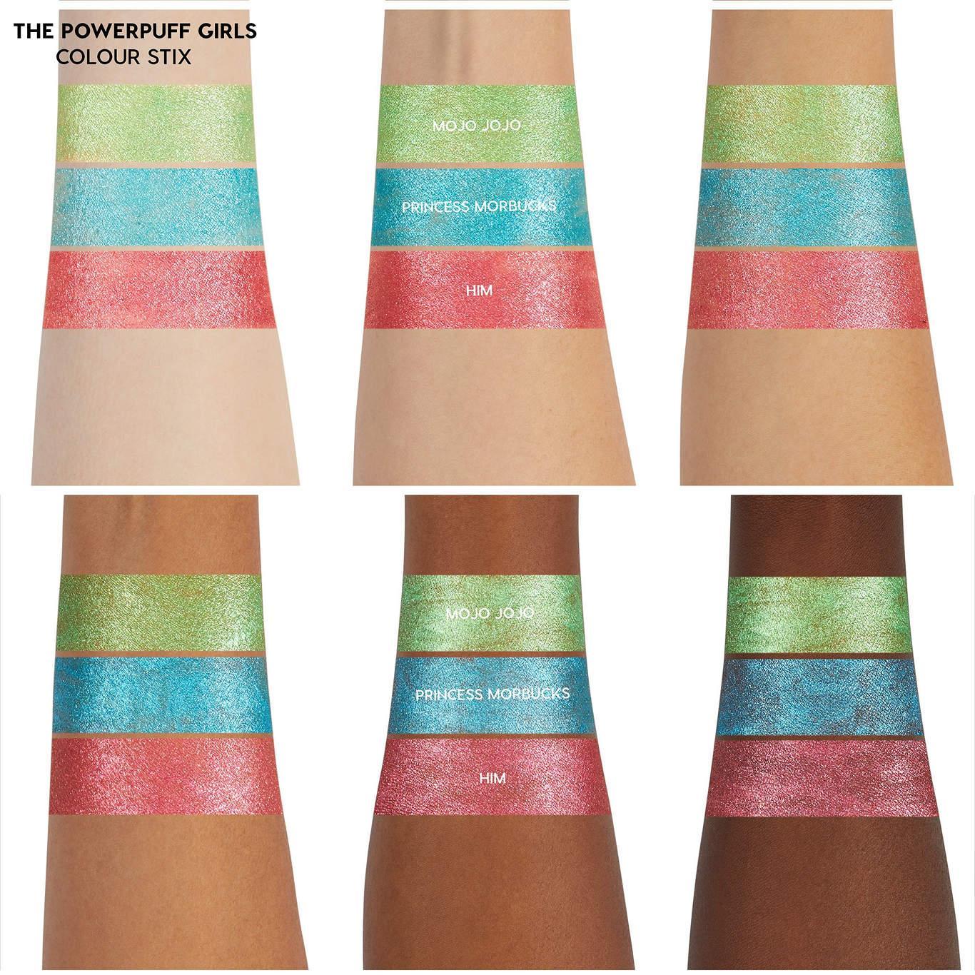 ColourPop Cosmetics The Powerpuff Girls x ColourPop Collection Colour Stix Swatches