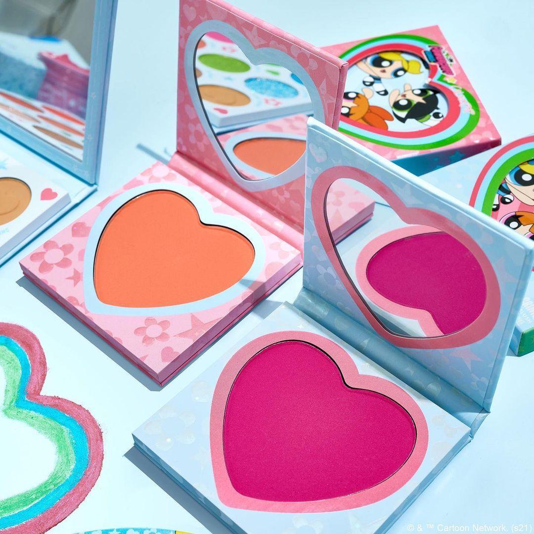 ColourPop Cosmetics The Powerpuff Girls x ColourPop Collection Heart Shaped Blushes Promo