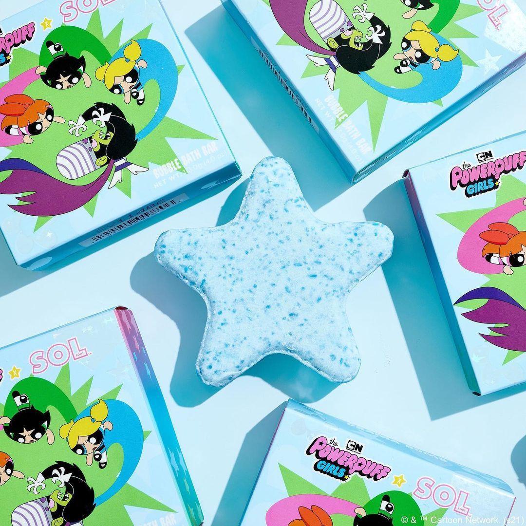 ColourPop Cosmetics The Powerpuff Girls x ColourPop Collection SolBody Bubble Bath Bar Promo