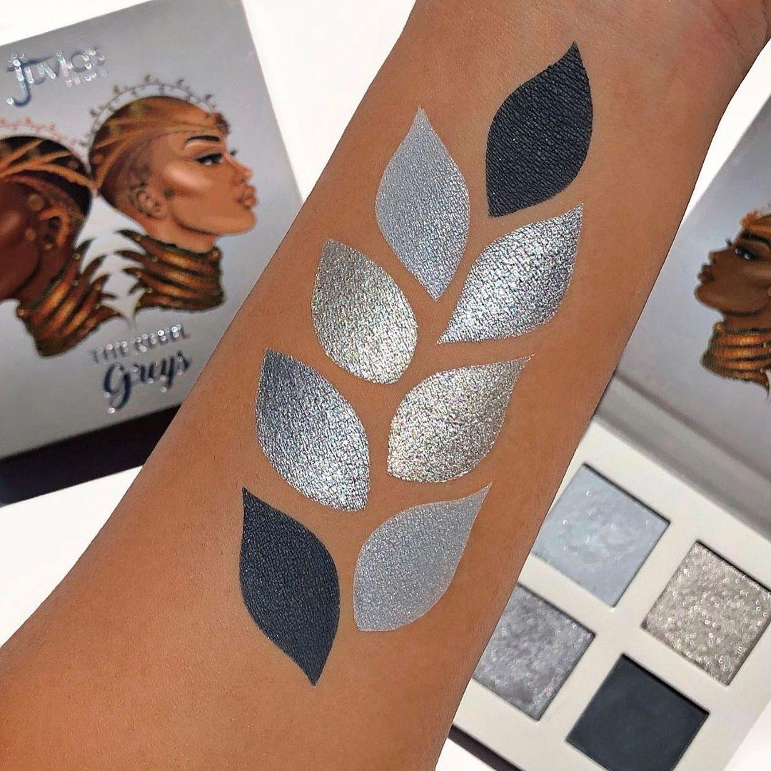Juvia's Place The Rebel Eyesadow Palettes The Rebel Grey Arm Swatches